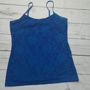 The Limited blue lace tank top